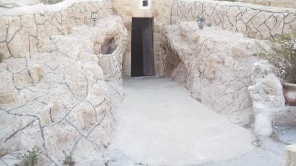 Negev Bedouin Drejat Cave Entrance