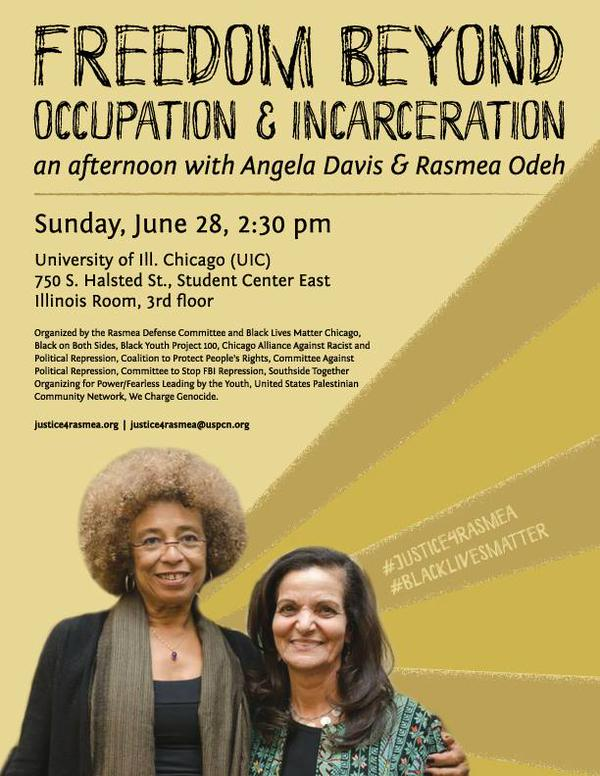 Rasmea Odeh Angela Davis Event Poster