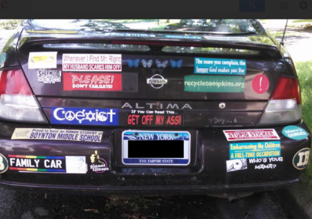 These bumper stickers are revolutionary acts