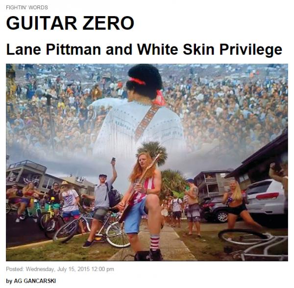 Lane Pitmann Folio Mag White Skin Privilege