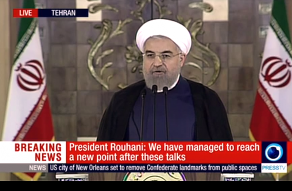 Rouhani Iran nuclear announcement