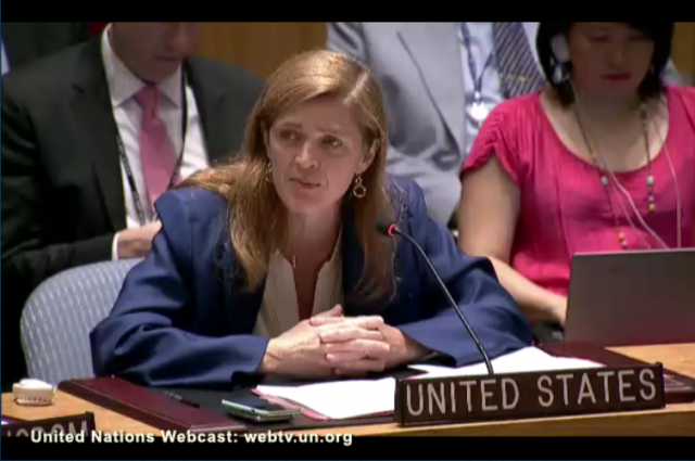 [U.S. Ambassador to U.N. Samantha Power, Iran Nuclear Deal Vote]