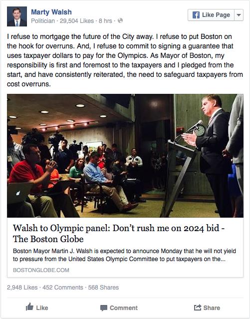 marty walsh boston olympic