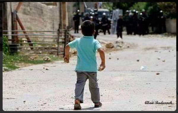 Palestinian Child Participate in Clashes with Israel Twitter - original