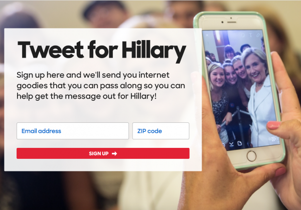Tweet for hillary clinton campaign grassroots digital media sign up scandal email benghazi 2016 democrat
