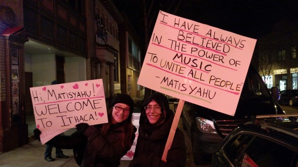 Matisyahu Ithaca Supporters With Signs Power of Music