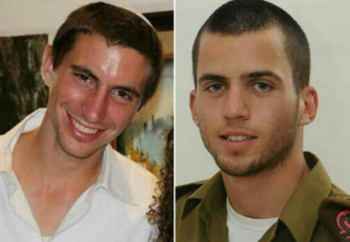 Oron Shaul (right) and Hadar Goldin