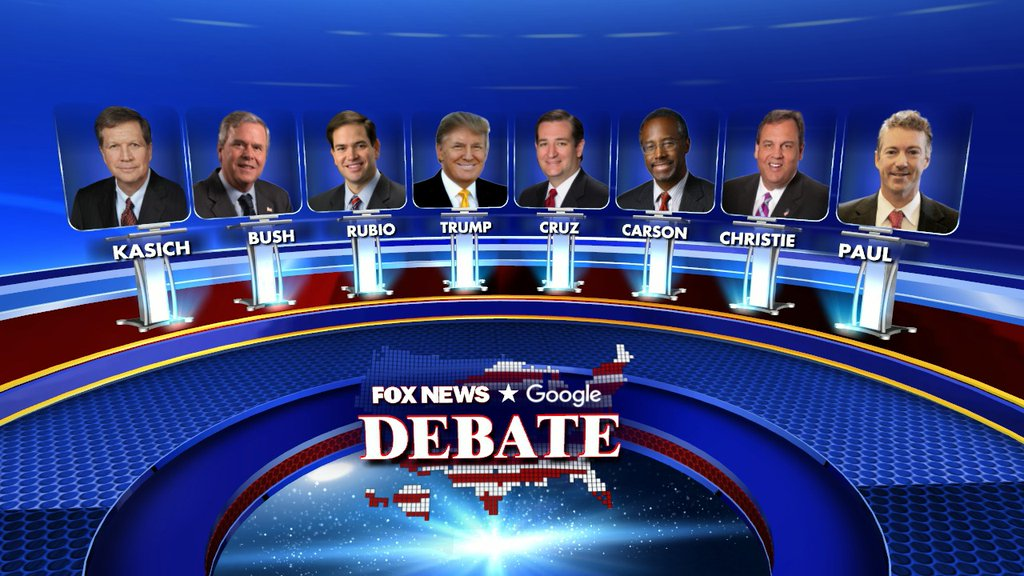 Fox News Debate 1-28-2016 Line Up