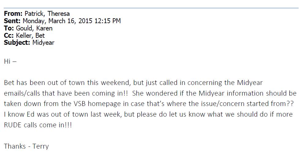 VSB Email 3-16-2015 1215 Rude Calls