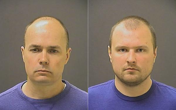 Lt. Brian Rice (l); Officer Garrett Miller (r)
