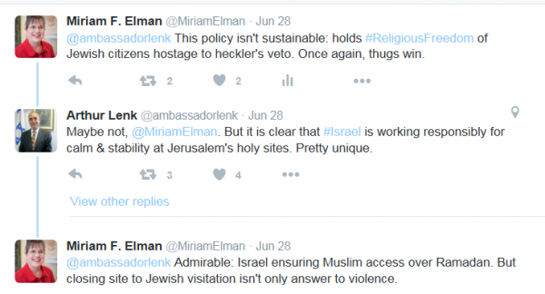 Ambassador Lenk tweets, 1