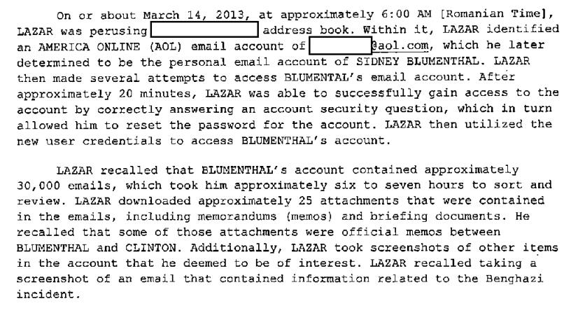 Guccifer Blumenthal Clinton Emails