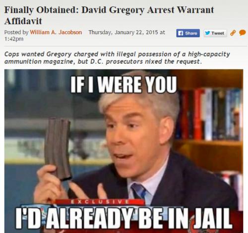 David Gregory Warrant Post