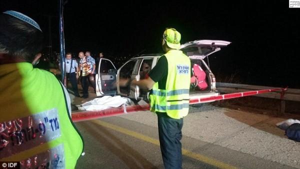 Eitam and Naama Henkin Terror Scene IDF Photo