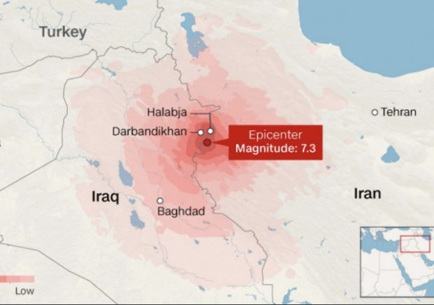 iran and iraq earthquakes death toll around 350