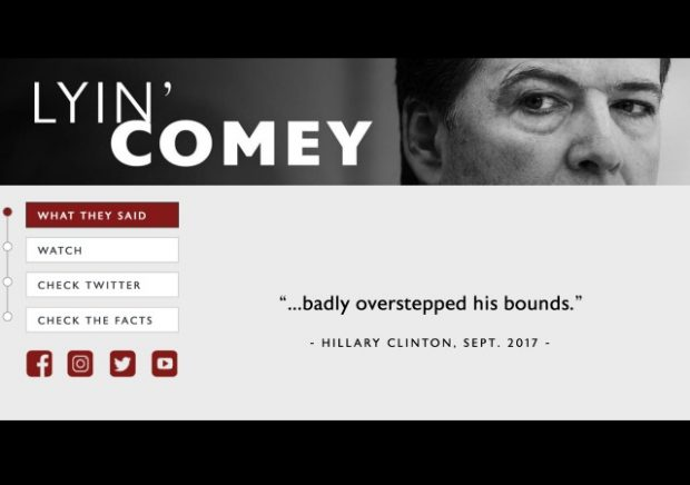 James Comey Is Going on a Media Blitz. RNC Has a Plan