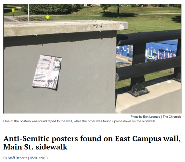 http://www.dukechronicle.com/article/2018/05/anti-semitic-posters-found-on-east-campus-wall-main-st-sidewalk
