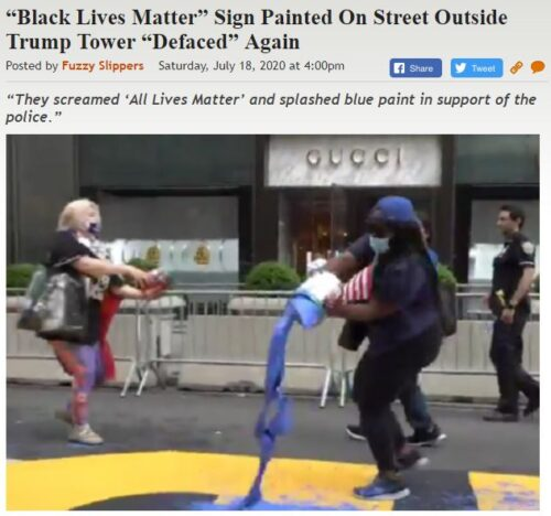 https://legalinsurrection.com/2020/07/black-lives-matter-sign-painted-on-street-outside-trump-tower-defaced-again/